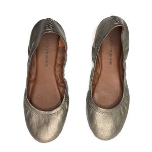 Lucky Brand Gold Metallic Stitched Flats